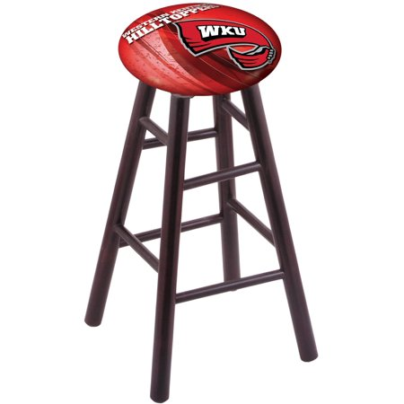 Maple Bar Stool in Dark Cherry Finish with Western Kentucky Seat by the Holland Bar Stool Co. Maple Unfinished Bar Stool