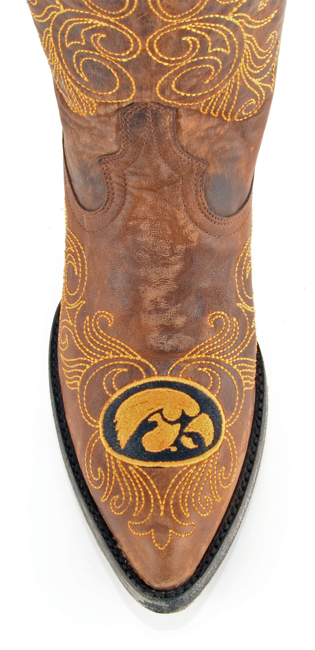 "Gameday Boots Womens 13"" Tall Leather University Of Iowa Cowboy Boots"