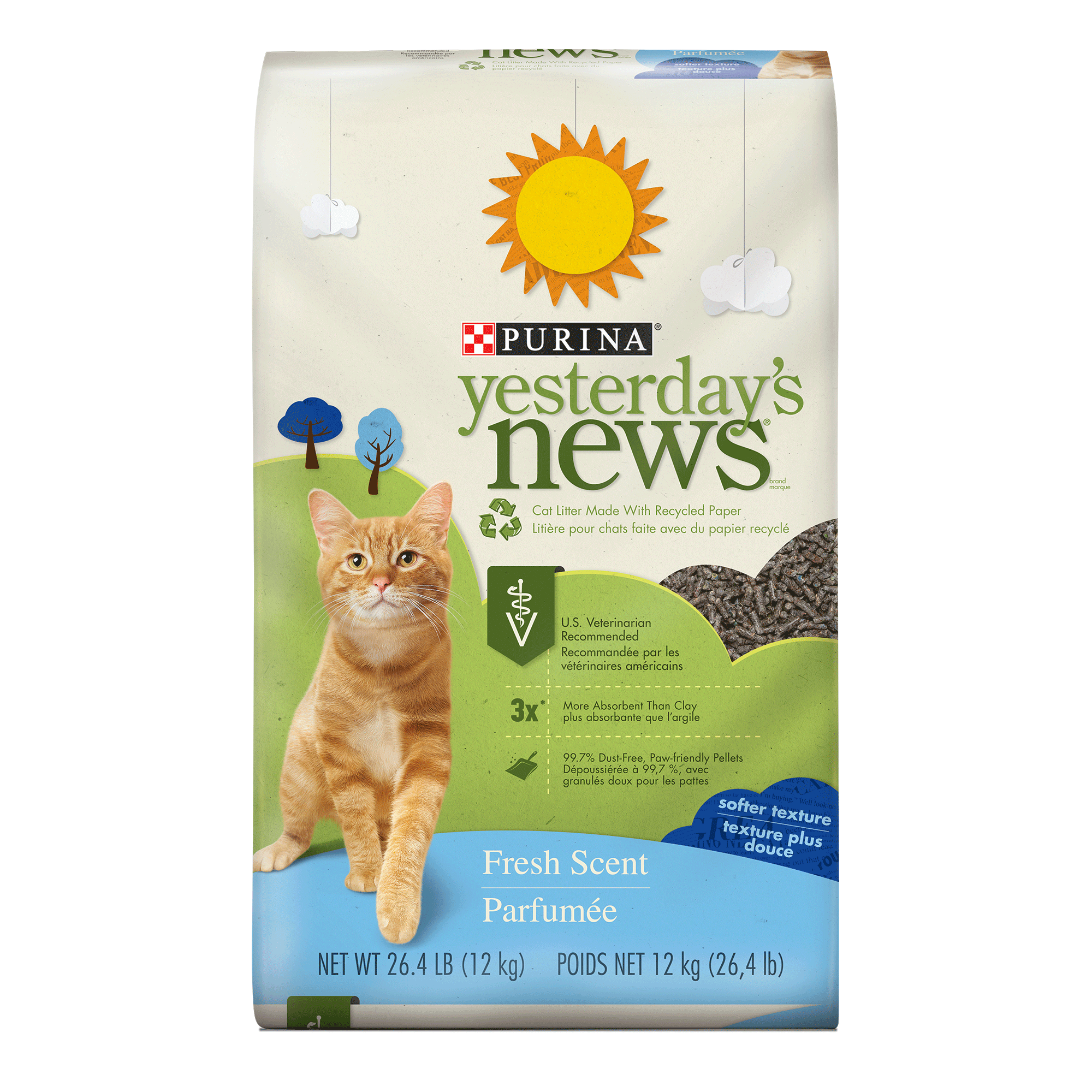 Purina Yesterday's News Fresh Scent Cat Litter, 26.5-lb Bag