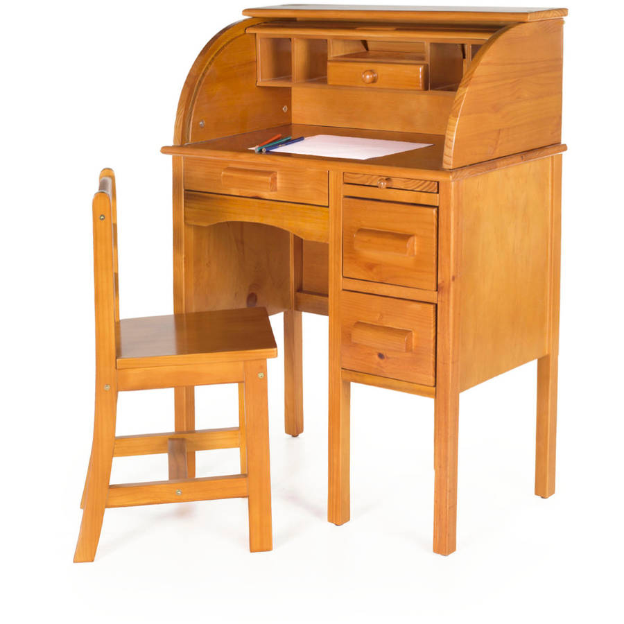 Guidecraft JR Roll-Top Desk, Honey by Guidecraft