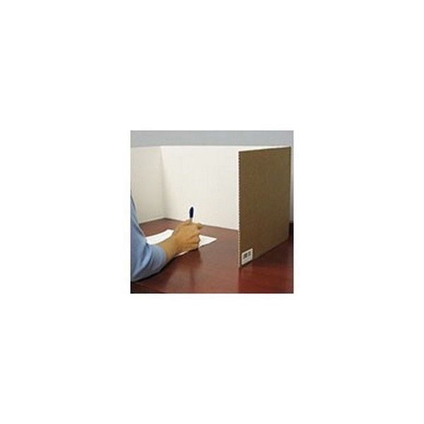 Flp6000524 Corrugated Study Carrel White 24Pk Office Supp...