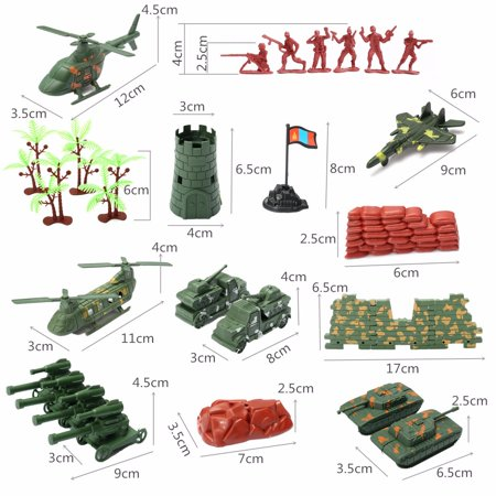 270 pcs Military Playset Plastic Toy Soldier Army Men 4cm Figures & Accessories - image 11 of 12