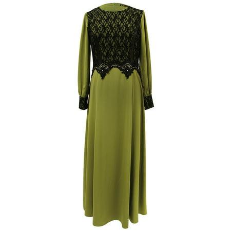 Hijaz Olive Green Abaya Long Maxi Formal Dress 44 Inch Walmart