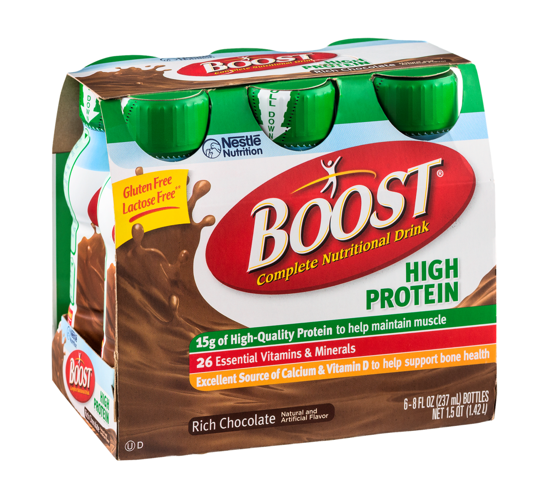 Boost High Protein Rich Chocolate Protein Shake, Gluten Free, Lactose Free, 48 FL OZ (Pack of 4)