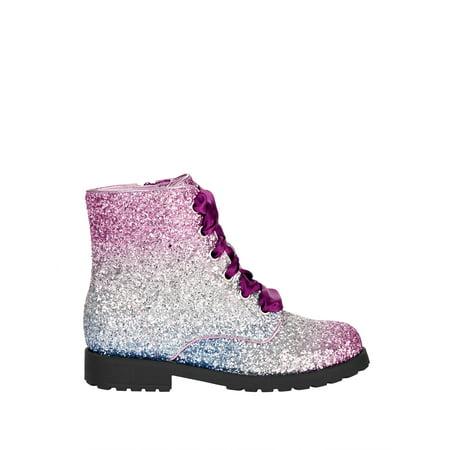Wonder Nation Ombre Glitter Combat Boot (Little Girls & Big Girls)