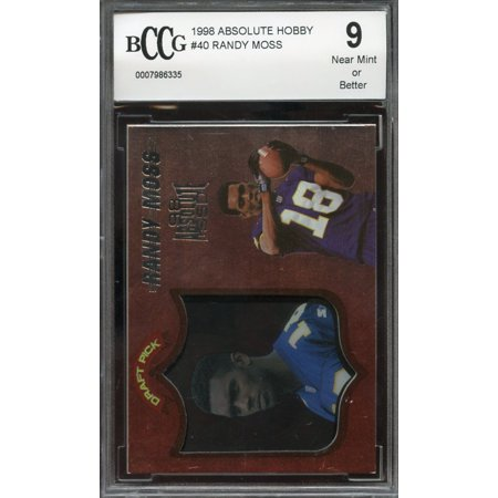 1998 Absolute Hobby  40 Randy Moss Rc Rookie Bgs Bccg 9