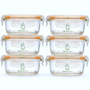 Sage Spoonfuls Tough Glass Tubs Baby Food Storage Containers, 4oz (set of 6)