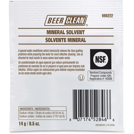Diversey, DVO990222, Beer Clean Mineral Solvent, 100 / Carton, White