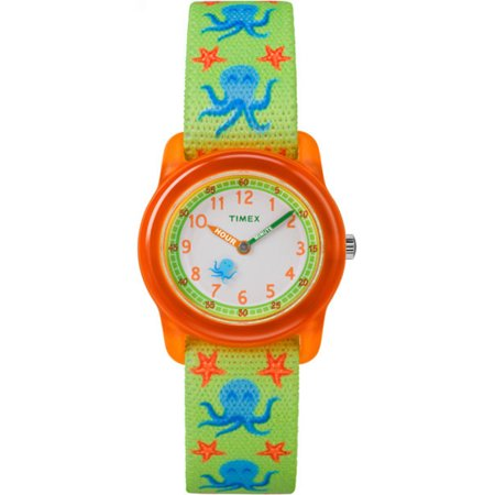 Click here for Timex Boys Time Machines Analog Watch  Green/Orang... prices
