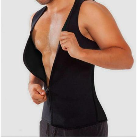 Men's Body Shaper Sweat Shirt Waist Trainer Shapewear Slimming Vest for Man Boobs Weight Loss Trimmer Sauna Belt (Male Vent)