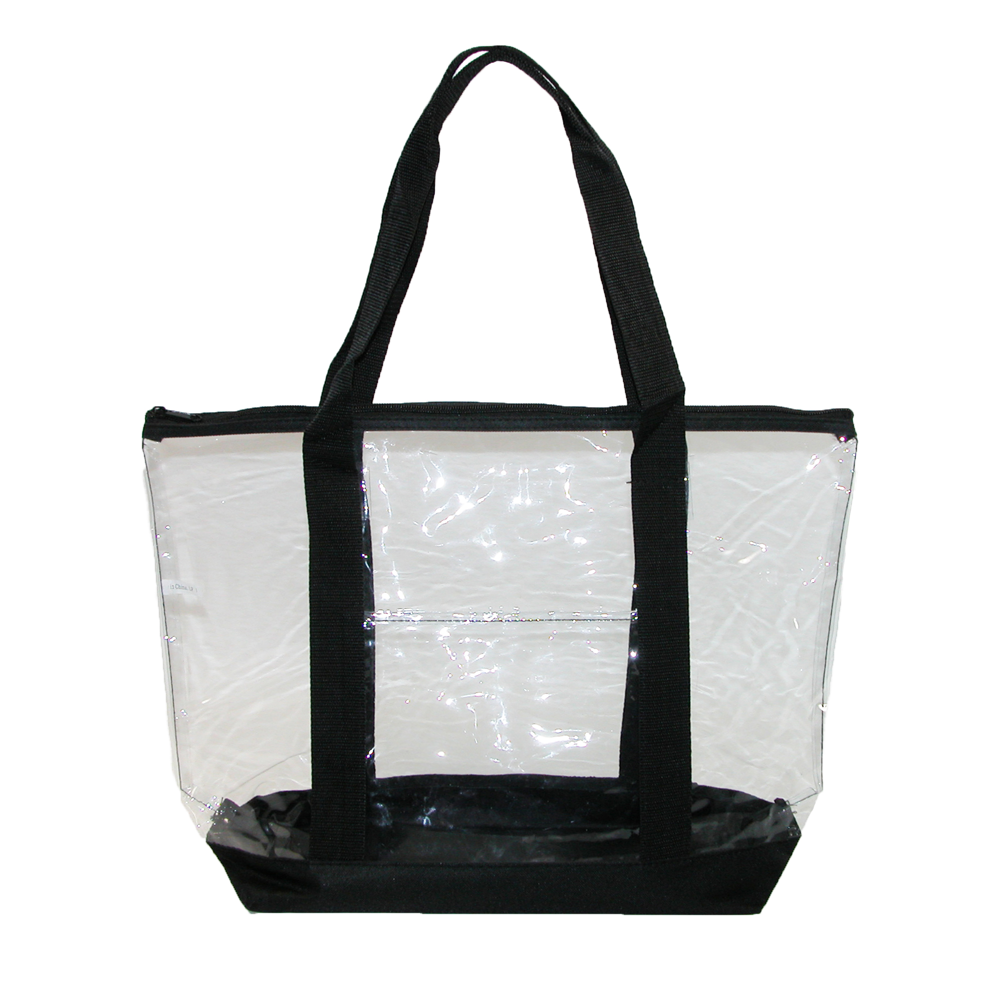 Liberty Bags  Clear Zip Top Tote Bag with Double Handles