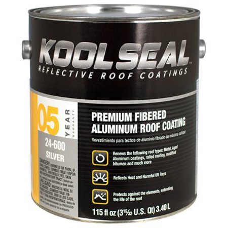- KOOL SEAL FIBERED ALUMINUM ROOF COATING 5 YEAR WARRANTY