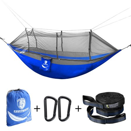 The Cheapest Price High Strength Camping Hammock With Mosquito Net Outdoor Travel Hammock For Camping Hiking Backpacking Camping & Hiking Sports & Entertainment