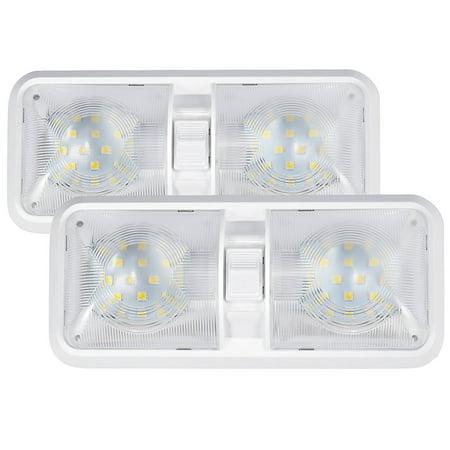 kohree 2 pack 12v led rv ceiling dome light bulbs rv interior lighting for trailer camper with. Black Bedroom Furniture Sets. Home Design Ideas
