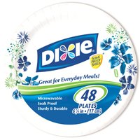 "Dixie HeavyDuty 6 7/8"", 48 ct Plate"