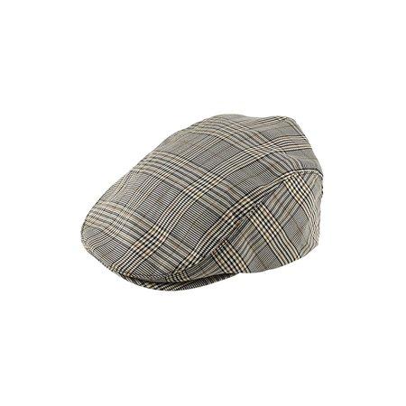 Khaki Plaid Ivy Newsboy Cap