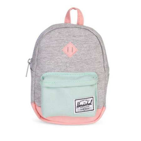 700a2650f21 Herschel 10249-01906  Mini Heritage Light Grey Crosshatch Yucca Peach  Backpack - Walmart.com