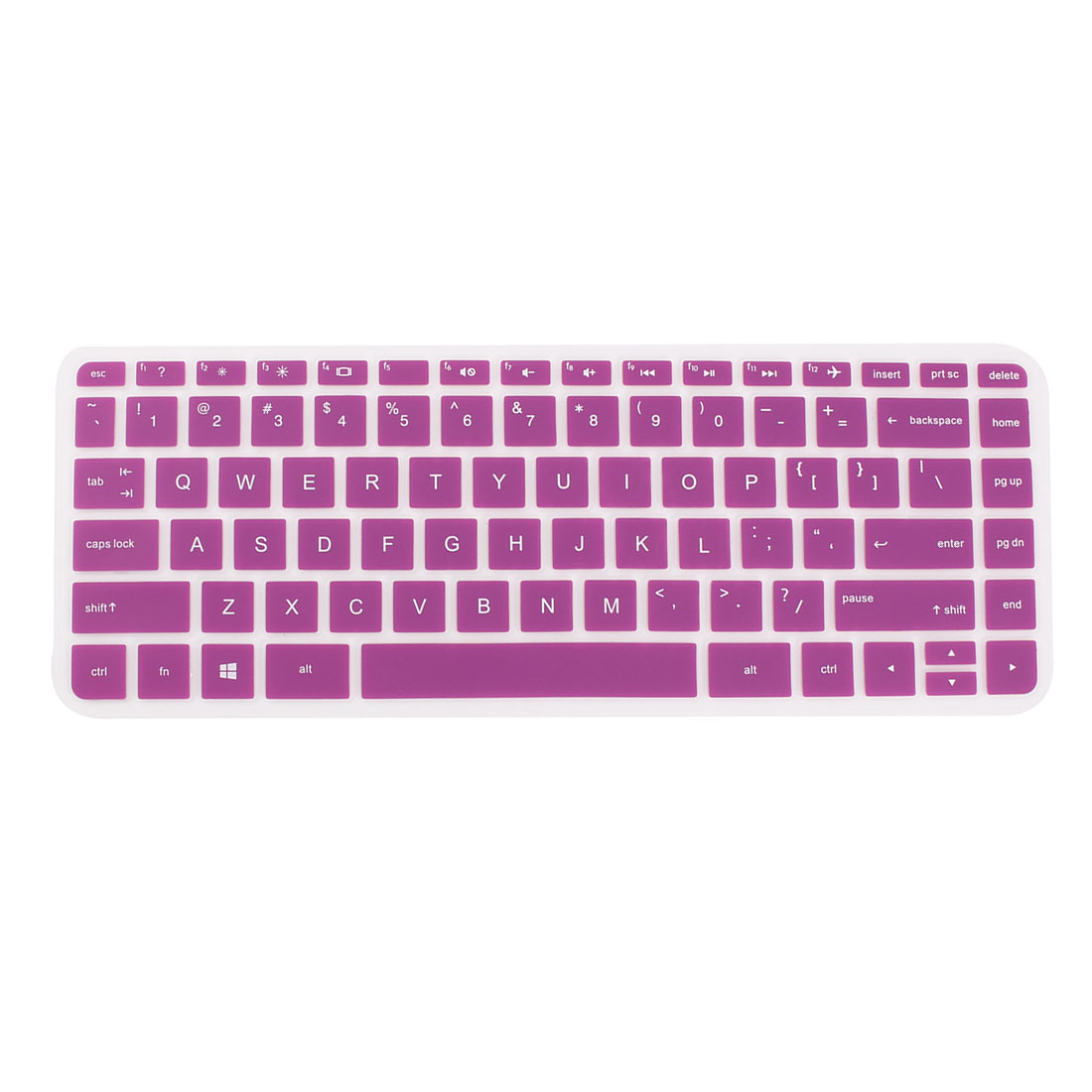Computer Silicone Anti Dust Protector Keyboard Cover Purple for HP 14 inch