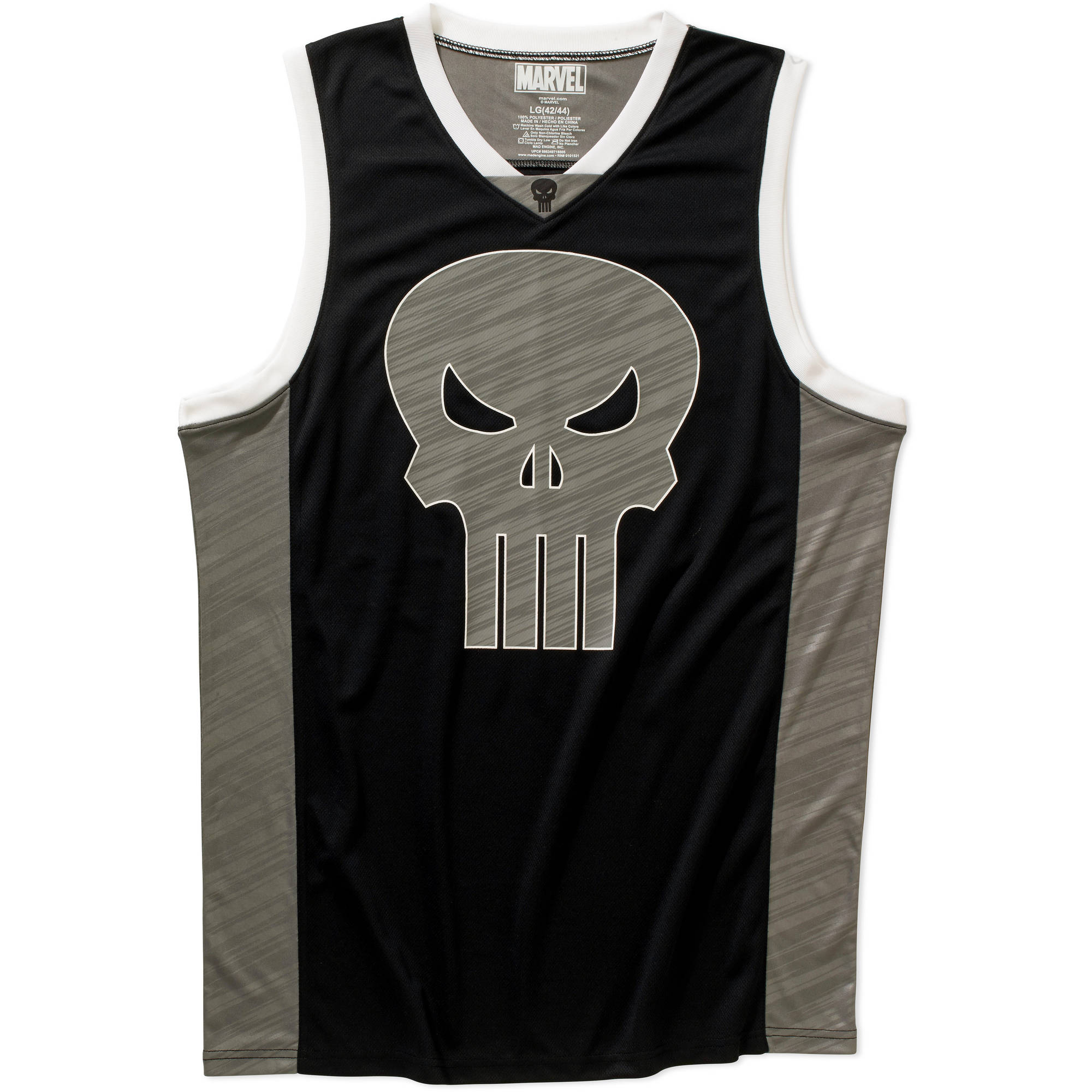 Punisher Mens Basketball Jersey Tank