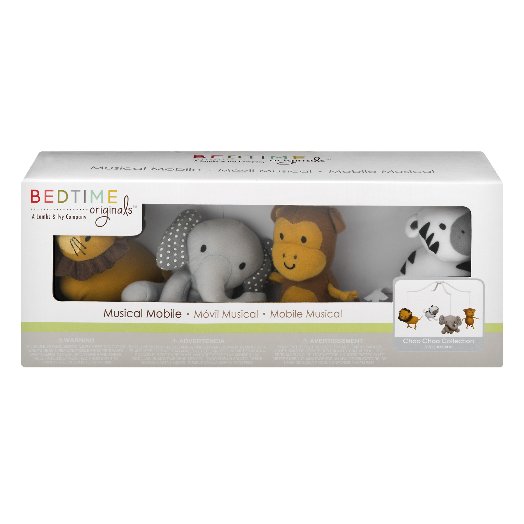 Bedtime Originals Lamp Musical Mobile, Choo Choo Collection, 1.0 CT