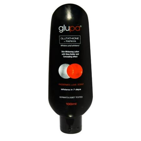 Glupa Lightening Body Lotion with Glutathione & Papaya - Plus Vitamins C & E, Arbutin, Grape Seed