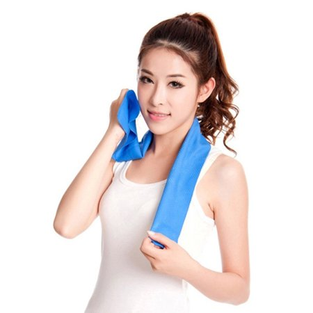 - 80x17cm PVA Sports Hypothermia Towels Summer Exercise Sweat Ice Cold Towel Quick