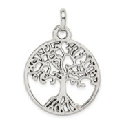 925 Sterling Silver Polished Tree Of Life Pendant Necklace Jewelry Gifts for Women - 3.1 Grams