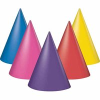 Birthday Party Hats, Assorted Colors, One Size, 8ct