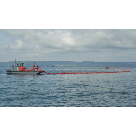 Oil Spill Containment Boom (Canvas Print Members of the Naval Station Everett's oil spill response team deploy an oil spill containment boom Stretched Canvas 10 x 14 )