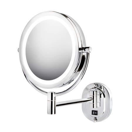 Jerdon HL165CLD LED Lighted Wall Mount Mirror, Chrome, Direct Wire Chrome Wall Mount Mirror