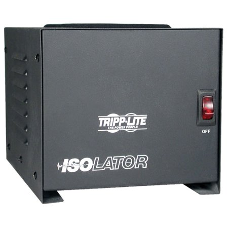 Tripp Lite - IS1000 - Tripp Lite Isolation Transformer 1000W Surge 120V 4 Outlet 6' Cord TAA GSA - Receptacles: 4 x NEMA