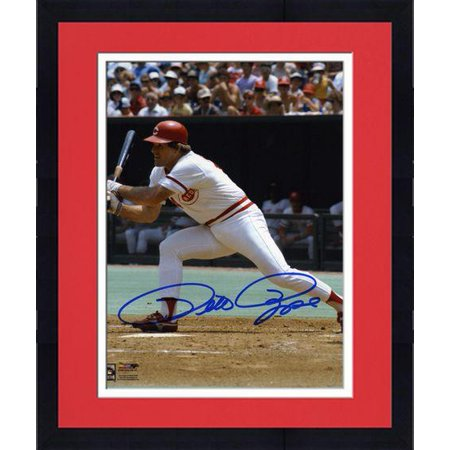 "Framed Pete Rose Cincinnati Reds Autographed 8"" x 10"" Swing Photograph Fanatics Authentic Certified by"