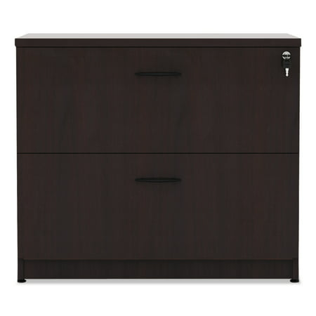 Alera 2 Drawers Lateral Lockable Filing Cabinet, Brown