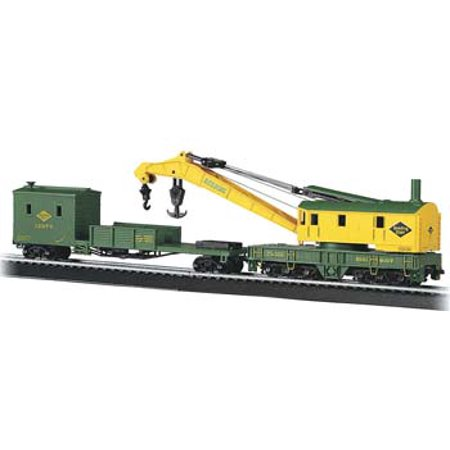 - Bachmann 16110 HO Reading 250-Ton Crane Car & Boom Tender