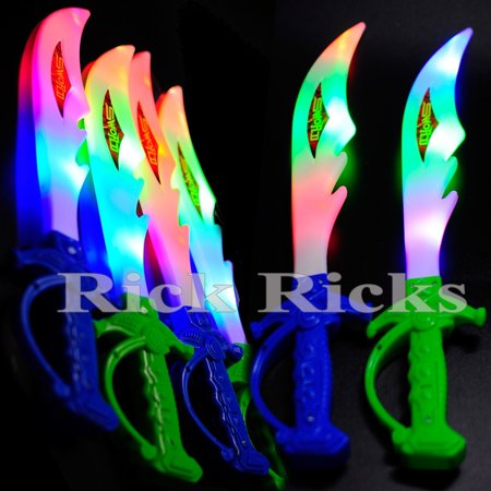 Glow Stick Ideas Parties (12 Light-Up Ninja Swords Flashing LED Toy Sticks Glow Lot Party Ninja Favors)