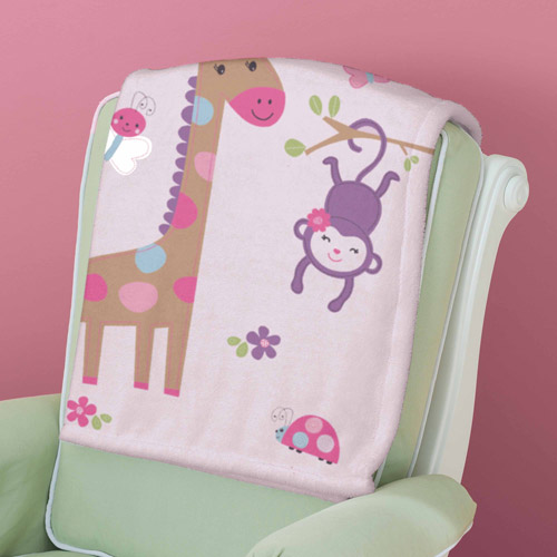 Summer Infant Pretty Pals Luxury Plush Blanket, Pink