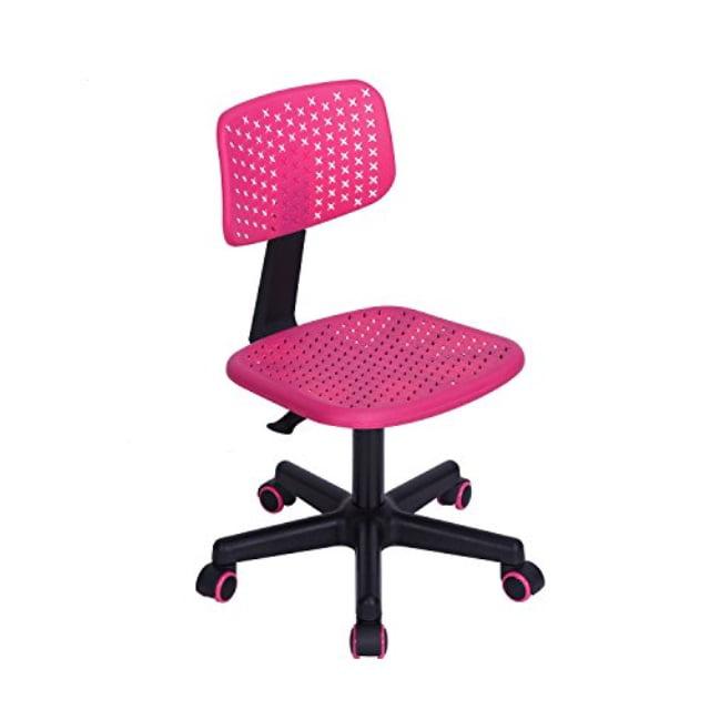 Greenforest Kids Desk Chair Height Adjustable Swivel Children Computer Chair Ergonomic Student Study Desk Chair Hollow Star Pink Walmart Com Walmart Com
