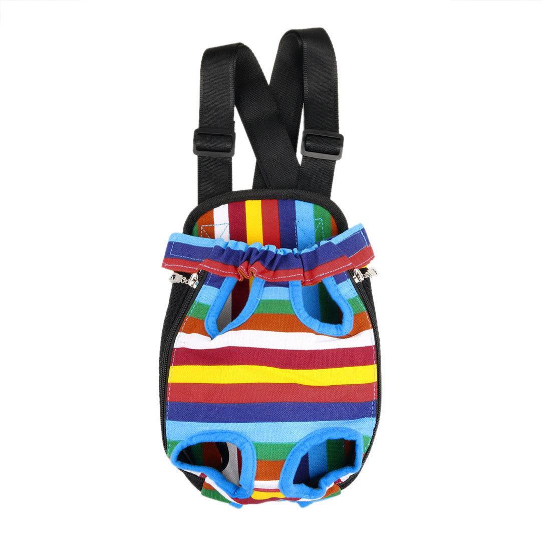 Small Pet Dog Carrier Legs Out Front Chest Backpack Cat Bag Colorful 28 x 18cm