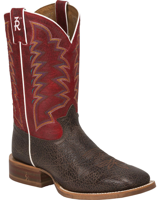Tony Lama 3R1127 2E Square Toe Leather Western Boot by Tony Lama