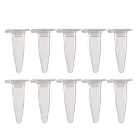 50Pcs 0.2ml Plastic Centrifuge Tubes with Attached Cap Conical - Heavy Duty Conical Centrifuge Tube