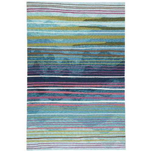 Ebern Designs Minta Hand Tufted Green Blue Indoor Outdoor Area Rug