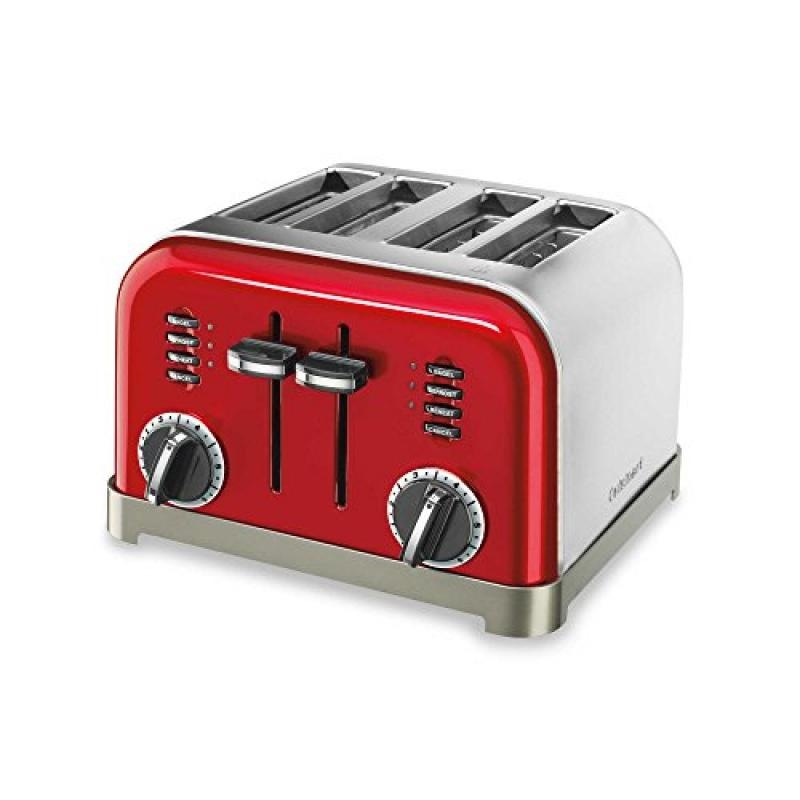 Cuisinart Classic 4-Slice Toaster in Metallic Red