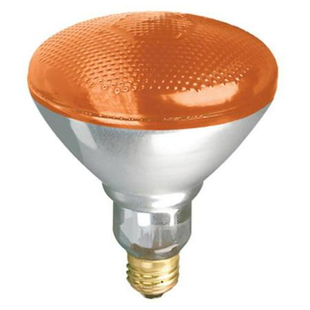 Globe Electric 70953 100BR38 Westpointe Amber Incandescent Flood Beam Accent Reflector Light Bulb - image 1 de 1