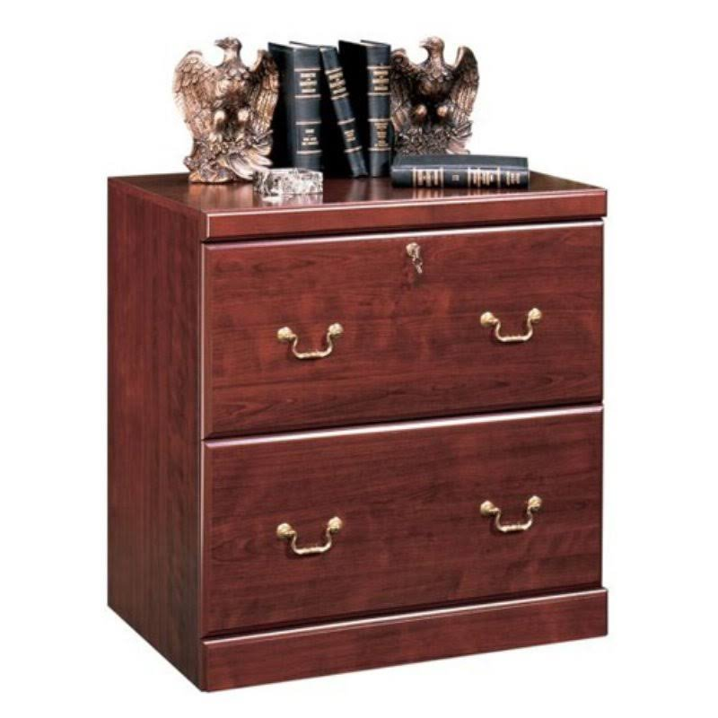 Sauder Heritage Hill 2 Drawer Lateral File with Lock, Classic Cherry Finish