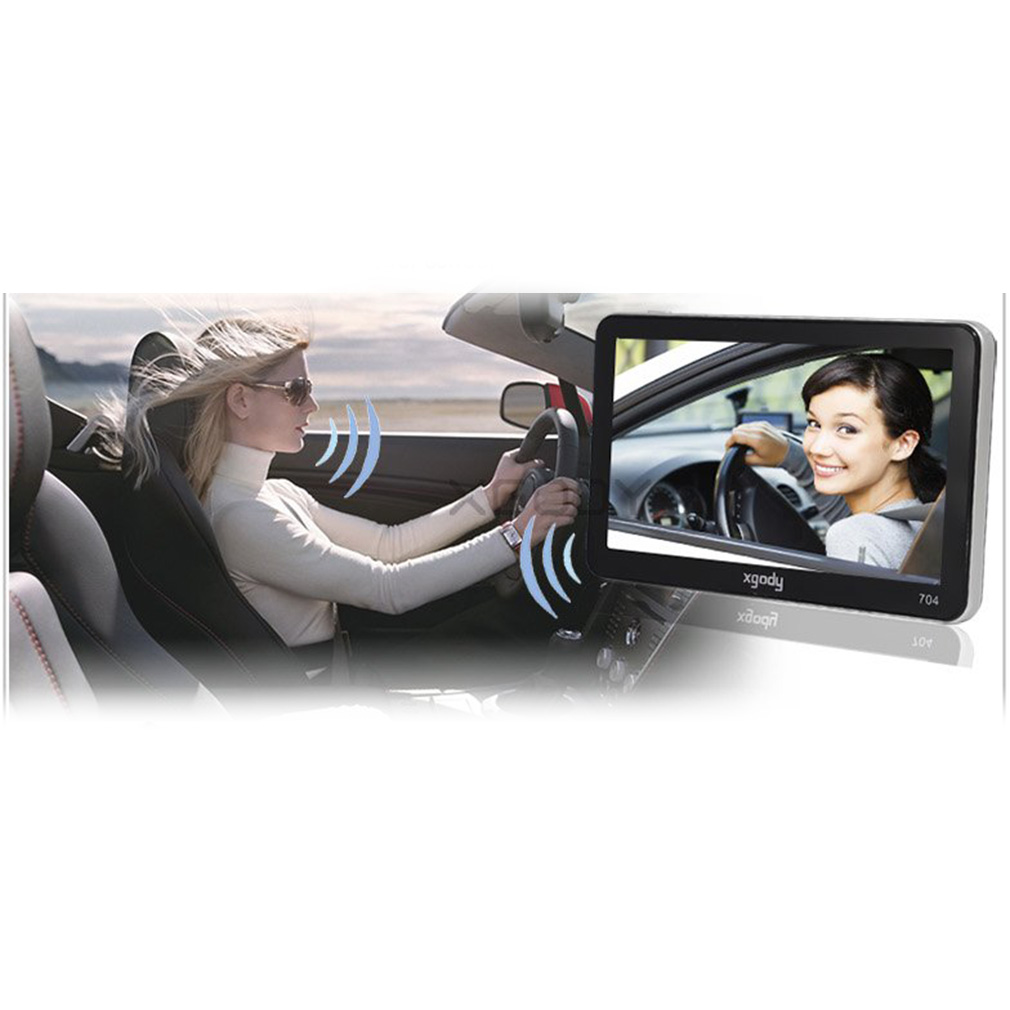 7'' Bluetooth Car GPS Navigation Wireless Rearview System with Maps
