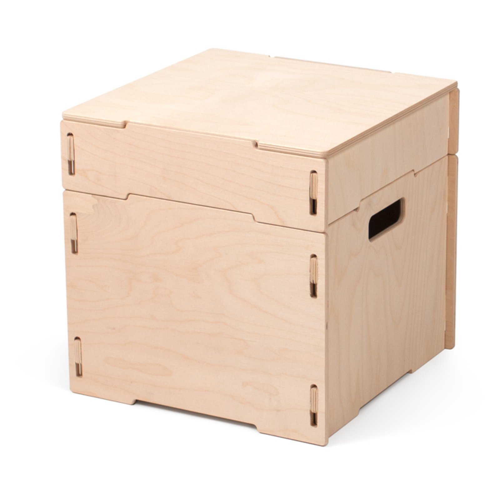 Ordinaire Sprout Small Square Wooden Storage Ottoman