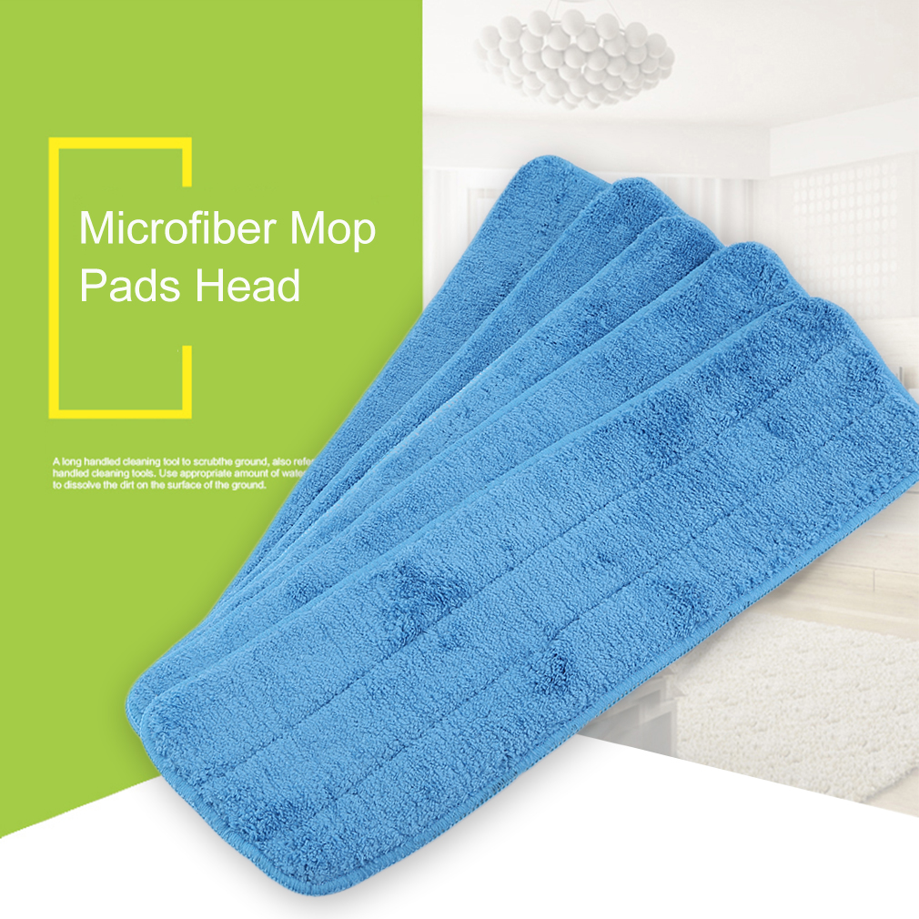 5 Pcs 40cm Washable Reusable Microfiber Mop Pad Dust Mop Head Refill Dry Microfiber Mop Head Refills