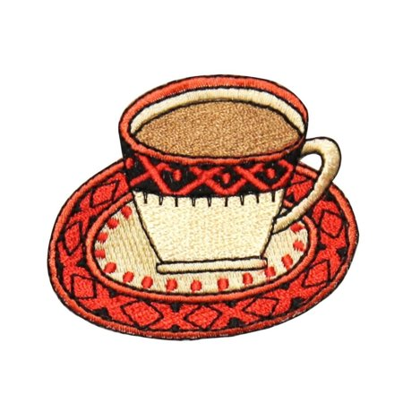 Id 1268 Cup Of Coffee Patch Morning Joe Expresso Embroidered Iron On Applique