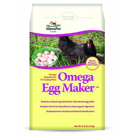 Manna Pro Omega Eggmaker Hen Supplement, 5 lbs.