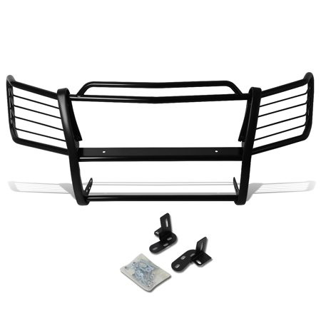 (For 02-06 Chevy Avalanche with Cladding Front Bumper Protector Brush Grille Guard (Black) 03 04 05)